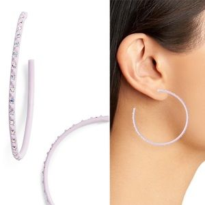 KENDRA SCOTT Val Hoop Earrings Crystal Matte Lilac